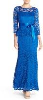 Chetta B Women's Peplum Lace Mermaid Gown