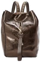 Jimmy Choo Echo Metallic Leather Convertible Backpack