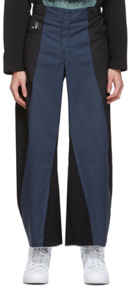 Liam Hodges Navy Paneled Work Trousers