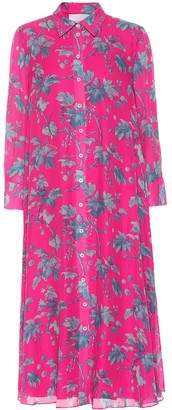 Carolina Herrera Printed silk-chiffon shirt dress