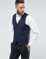 Asos Slim Vest in Navy