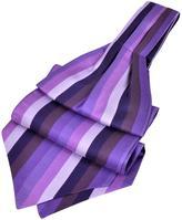 Forzieri Vertical Stripe Tone on Tone Woven Silk Ascot