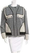 Proenza Schouler Leather-Accented Patterned Jacket