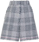 Thom Browne high-waisted raw edge shorts