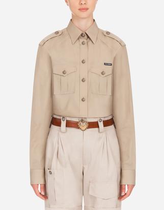 Dolce & Gabbana Oversize Poplin Safari Shirt