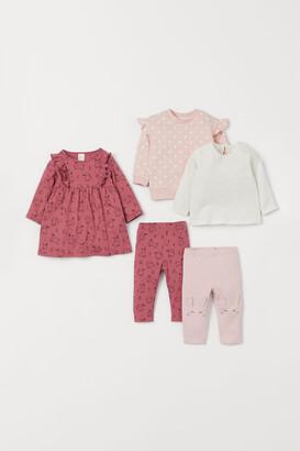 H&M 5-piece Cotton Set - Pink