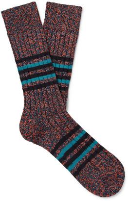 Pantherella Phoenix Striped Melange Recycled Cotton-Blend Socks