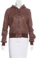 MICHAEL Michael Kors Leather Hooded Jacket