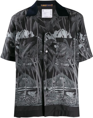 Sacai Diamond head loose-fit shirt