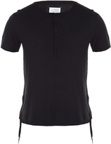 Maison Margiela Short-sleeved henley-collar T-shirt