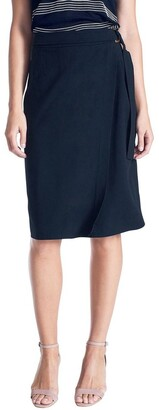 David Lawrence Wrap Belted Skirt