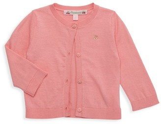 Bonpoint Baby's & Little Girl's Cherry Button-Front Knit Cardigan