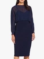 Adrianna Papell Chiffon Blouson Dress, Midnight