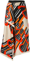 Carven printed wrap skirt