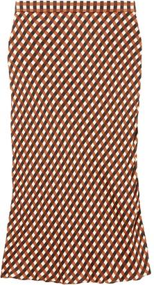 Proenza Schouler White Label Multicolor Gingham Georgette Slip Skirt