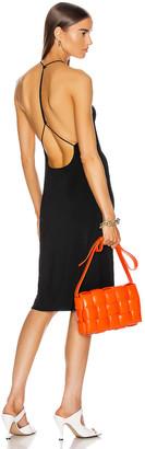 Bottega Veneta Jersey Open Back Dress in Black | FWRD