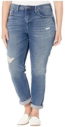 Silver Jeans Co. Plus Size Not Your Boyfriends Jeans Mid-Rise Slim Leg Jeans in Indigo W27336SFV317 (Indigo) Women's Jeans