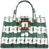 Gucci women's leather handbag shopping bag purse nymphaea
