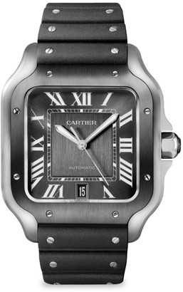Cartier Santos de Large Two-Tone Stainless Steel Two-Strap Chronograph Watch