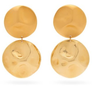 Vanda Jacintho - Hammered Gold-plated Drop Earrings - Gold