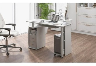 Latitude Run Computer Desk Table With Keyboard Tray And Drawers
