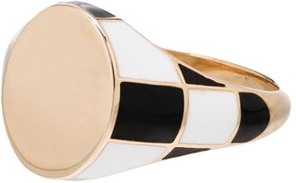 Alison Lou 14kt Checked Signet Ring