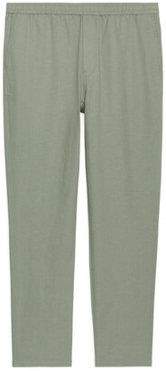 Arket Drawstring Cotton-Linen Trousers