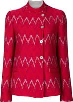 Emporio Armani geometric-pattern jacket
