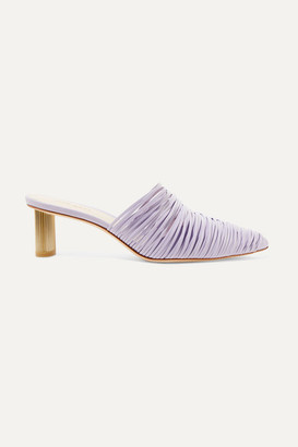Cult Gaia Sage Leather Mules - Lavender