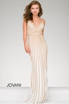 Jovani Embellished Long Jersey Prom Dress 45898