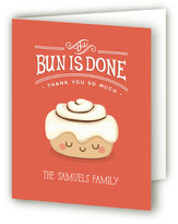 Minted The Bun is Done! Birth Announcements Thank You Cards