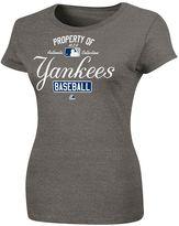 "New York Yankees Majestic ac ""property of"" tee - women"