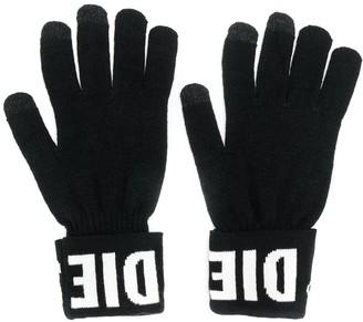 Diesel Logo Gloves