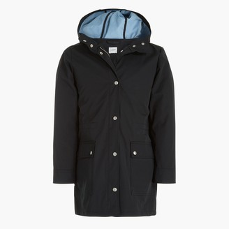 J.Crew Petite midi-length raincoat with snaps
