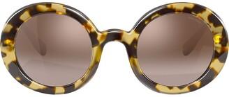 Miu Miu oversized round sunglasses