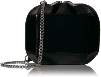 The Fix Tiffni Geometric Hard Shell Chain Strap Crossbody Bag