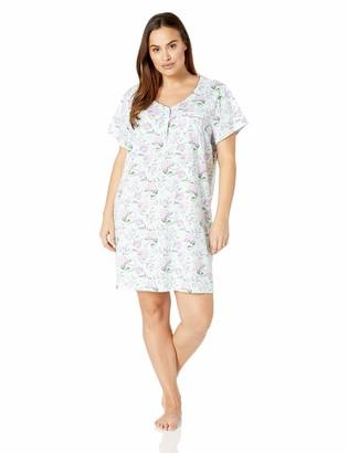 Karen Neuburger Women's Pajama Short Sleeve Pj Sleepdress