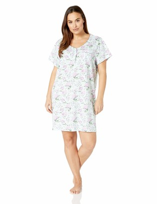 Karen Neuburger Women's Short Sleeve Sleepdress Pajama PJ