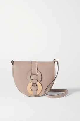 Chloé Darryl Small Textured-leather Shoulder Bag - Gray