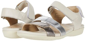 Earth Alder Amal (Sand White Soft Calf) Women's Sandals
