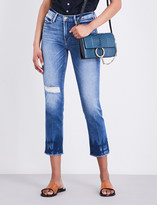 Frame Le High Straight distressed straight high-rise jeans