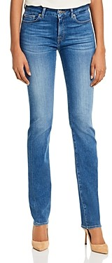 7 For All Mankind Kimmie Straight-Leg Jeans in Slim Illusion Luxe Love Story