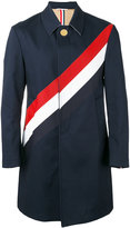 Thom Browne striped coat - men - Cotton - 2