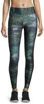 Terez Tall Band Heathered Camo Performance Leggings, Multicolor Pattern