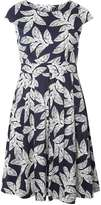 Izabel London **Izabel London Pleated dress in palm print