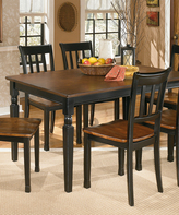 Signature Design by Ashley Black & Brown Owingsville Rectangular Dining Room Table