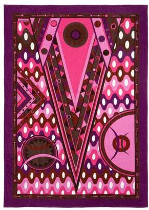 Emilio Pucci Vivara-print Cotton-terry Beach Towel - Womens - Dark Pink