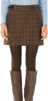 Max Studio Heather Wool Plaid Mini-Kilt