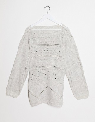 Free People sweater in white