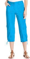 Style&Co. Pants, Cropped Straight-Leg Cargo Capri